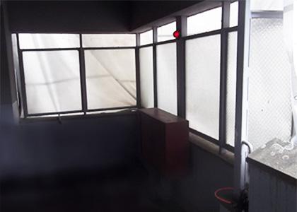 みさと団地防風スクリーンアルミ化工事